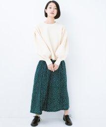 haco!/旬のグリーンカラーを思いっきり楽しむ 総柄プリントプリーツパンツ/501290714