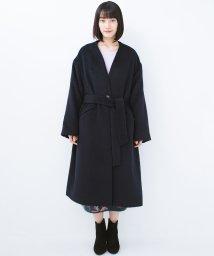 haco!/女っぽくもかっこよくも着られるベルトつきノーカラーコート/501290721