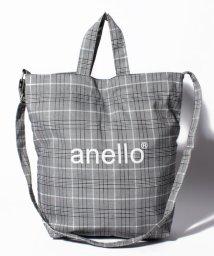 anello/【anello】AI-C2553 チェック柄 2WAYトートバッグ/501175217