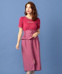 MIIA/ペプラムベルト付きタイトスカート/501325368