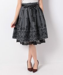 axes femme/花フロッキープリントスカート/501329330