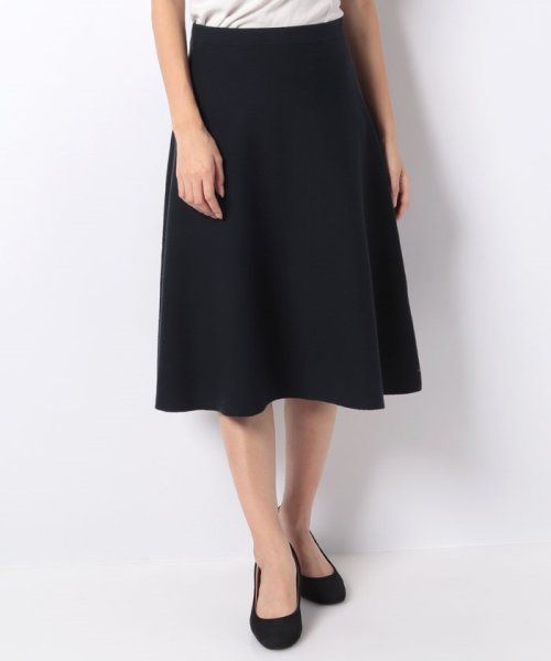 LAPINE BLEUE(ラピーヌ ブルー)/【セットアップ対応商品】12Gミラノリブニットフレアースカート/239532