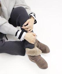 Fin/エコファー2WAYショートブーツ【低反発スポンジ入り】/501347710