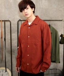 JIGGYS SHOP/ポリトロ オープンカラーシャツ / 長袖シャツ メンズ 開襟シャツ/500890330
