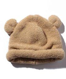 petit main/アニマル耳つきマシュマロニット帽/501349206