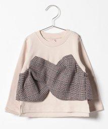 petit main/チェックビスチェドッキングTシャツ/501349210