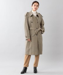 SANYO(WOMEN'S)/<BLUEFLAG+kiminori morishita>ウールコットンガンクラブチェックダブルトレンチコート/501354961