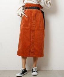 DOUBLE NAME/ベルト付コーデュロイナロースカート/501355951