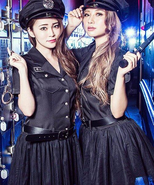 Dita(ディータ)/costume【コスチューム】USポリス(警察官)(帽子、ワンピース、ベルト、手錠/b4009