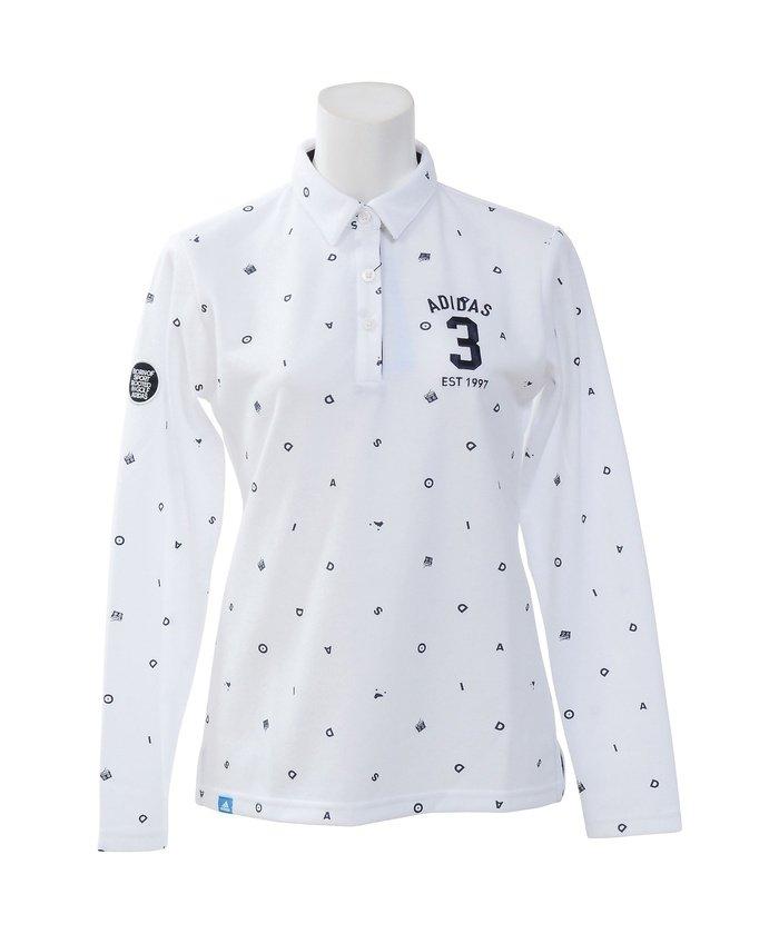 アディダス/レディス/JP ADICROSS モノグラム L/S ラウンドカラーシャツ