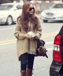 Afelice/フェミニンロングニット 韓国 ファッション レディース ゆったり かわいい 秋用 冬用【A/W】【ra-2031】/501357657