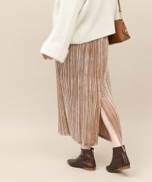 ROPE' mademoiselle/ベルベットプリーツスカート/501305609