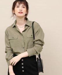 ROPE' mademoiselle/テンセルバイオミリタリーシャツ/501350606