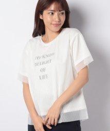 INTERPLANETSELECT/【BJ】チュールレイヤードロゴTシャツ/501352524