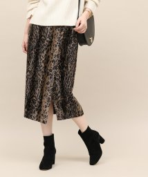 ROPE' mademoiselle/レオパードサイドスリットスカート/501359010