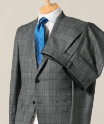 EDIFICE/CFT 3ボタン スーツ サキソニーブラウンチェック/501359988