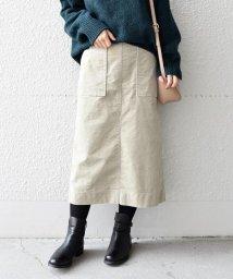 liflattie ships/《予約》liflattie ships:コーデュロイスカート beige◆/501360355