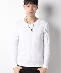 MARUKAWA/Tシャツ ネックレス付き Vネック 無地 ランダムテレコ/501325384
