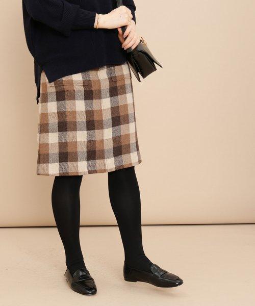 ADAM ET ROPE'(アダム エ ロペ)/ポケット付き台形スカート/GAC28300