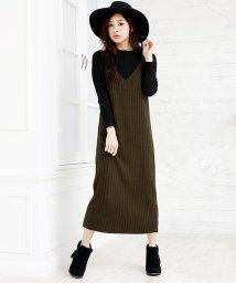 Girly Doll/万能な選べる着丈♪ニットキャミワンピース(ミモレ/ロング/マキシの3パターン)/501307394