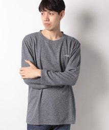 MARUKAWA/【FILA】大きいサイズ 無地ワッフル長袖Tシャツ ワンポイント刺繍/501325411