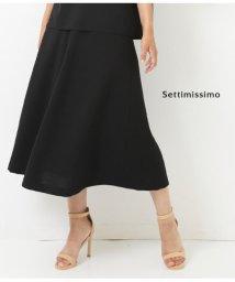 Settimissimo/Portcrosリネンタッチサッシュベルト付きフレアースカート/501345904