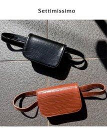 Settimissimo/クロコ型押2WAYウエストポーチ/501347163