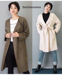 Settimissimo/カットオフストレッチスエードガウンジャケット/501347187
