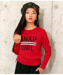 ANAP GiRL/ロゴラインジャガードセーター/501347474