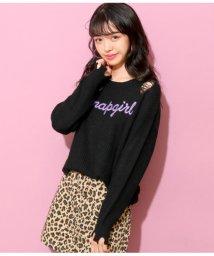 ANAP GiRL/ダメージロゴ刺繍セーター/501347475