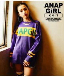 ANAP GiRL/配色切替ロゴセーター/501347476