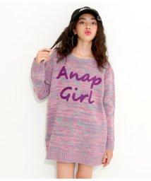 ANAP GiRL/ミックスロゴ刺繍セーター/501347479