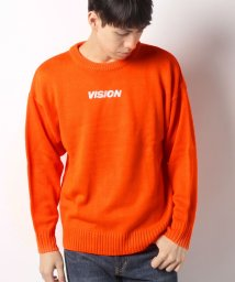 VENCE EXCHANGE MENS/【WEB限定】VISION ワンポイント刺繍ニット/501349236