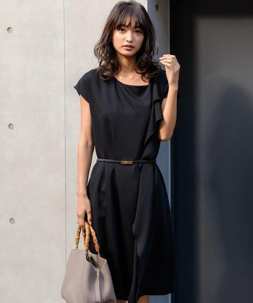 11c4acda3b141 ショルダーラッフルドレス(501351613)|レディースファッション|阪急百貨店公式通販 HANKYU FASHION
