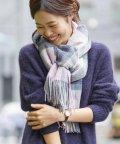 fredy emue/カシミヤチェックストール/501353486