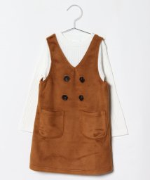 koe kids/長袖インナー付ジャンパースカート/501355656