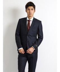 m.f.editorial/【秋冬】MArzotto(マルゾット) ジャスペ ヘリンボン紺 2ピーススーツA体レギュラーフィット/501365208
