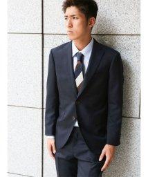m.f.editorial/【秋冬】コーディネート2パンツスーツ アムンゼンミニチェック紺 A体レギュラー/501365219