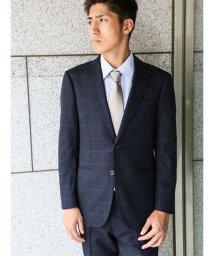 m.f.editorial/【秋冬】コーディネート2パンツスーツ アムンゼンウィンドペン紺 AB体レギュラー/501365220