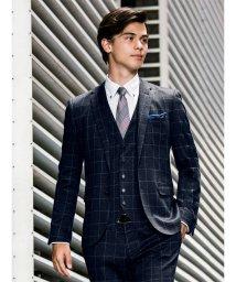 m.f.editorial/ストレッチポンチウィンドペーン紺 セットアップジャケット/501365228