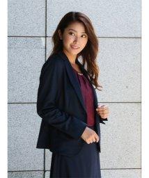 m.f.editorial/【秋冬】ストレッチウォッシャブル(テーラードジャケット+フレアスカート)紺ポンチ/501365545
