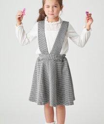 HusHush(Kids)/【フォーマル・結婚式対応】ポンチ2WAYジャンパースカート/501365971