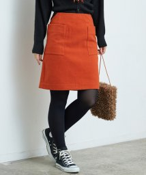 ROPE' PICNIC/プレミアムウールメルトン台形スカート/501366011