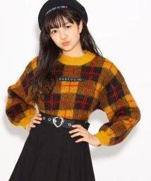 PINK-latte/★ニコラ掲載★チェック ニット/501366221