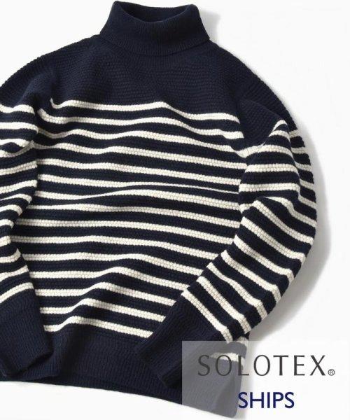 SHIPS MEN(シップス メン)/SC: SOLOTEX(R) ラム/カシミヤ タートルネック ニット/116350077