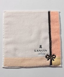 LANVIN en Bleu/リボン刺繍タオルハンカチ/501231952
