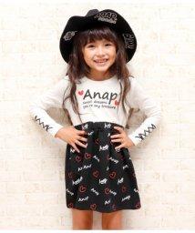 ANAP KIDS/総柄ロゴハートドッキングワンピース/501347221