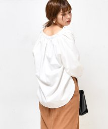 NICE CLAUP OUTLET/【natural couture】たっぷりギャザーシャツブラウス/501359788