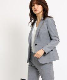 INDIVI/[S]シャンブレー ウールジャケット/501367330