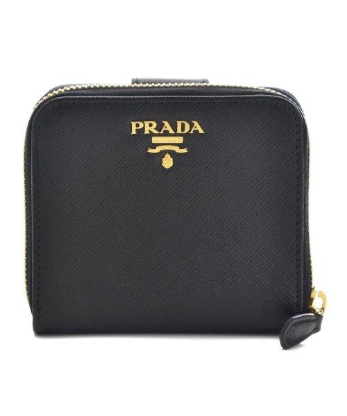 PRADA(プラダ)/【PRADA】二つ折り財布/SAF.METAL ORO 【NERO】/1ML522QWA002